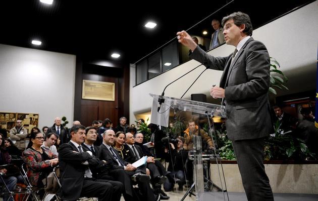 Arnaud Montebourg le 21 février 2013 à Dijon [Philippe Desmazes / AFP]