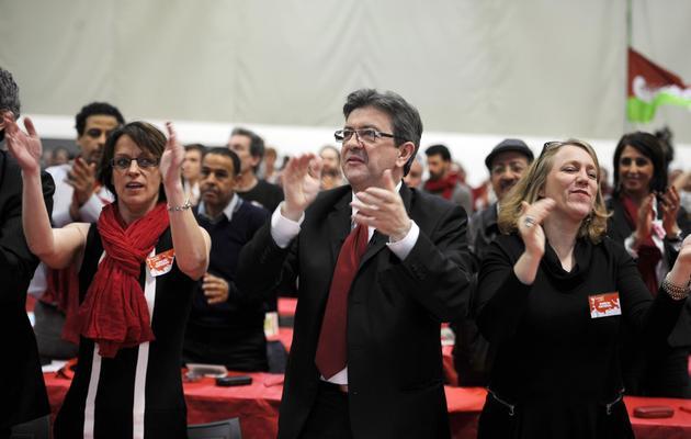 Jean-Luc Mélenchon, co-président du Parti de gauche, le 24 mars 2013 lors du congrès du Parti de gauche à Bordeaux [Jean-Pierre Muller / AFP]