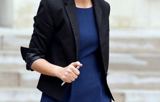 La porte-parole du gouvernement et ministre des Droits des femmes Najat Vallaud-Belkacem quitte l'Elysée, le 10 avril 2013 [Miguel Medina / AFP/Archives]