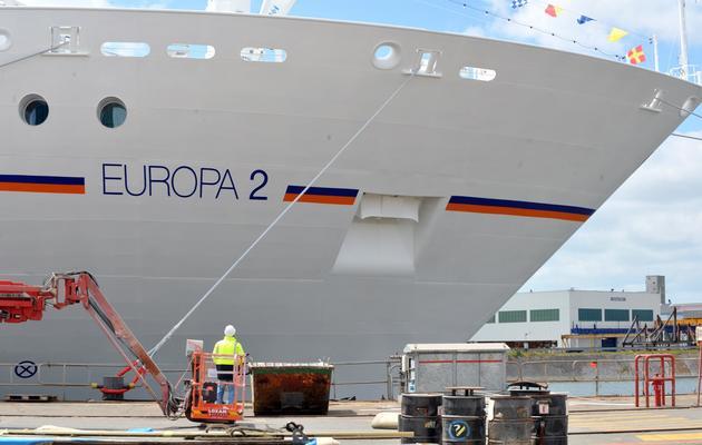 Le paquebot Europa 2, le navire construit par les chantiers STX de Saint-Nazaire, le 26 avril 2013 [Frank Perry / AFP]