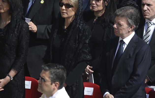 Le président colombien Manuel Santos e  12 mai 2013 place Saint-Pierre à Rome [Filippo Monteforte / AFP]
