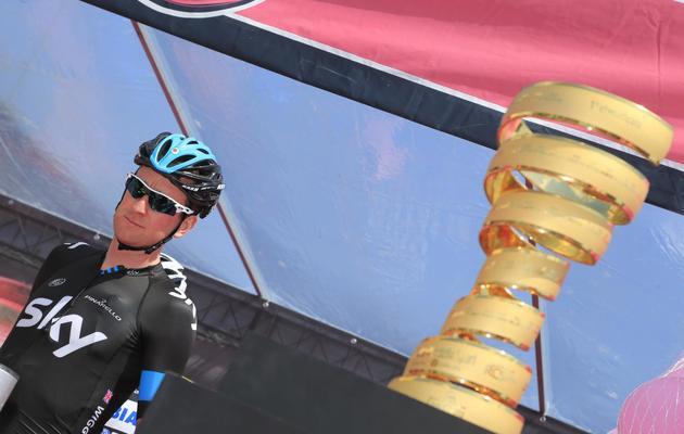 Le coureur cycliste britannique Bradley Wiggins sur le Tour d'Italie, le 14 mai 2013 [Luk Benies / AFP]