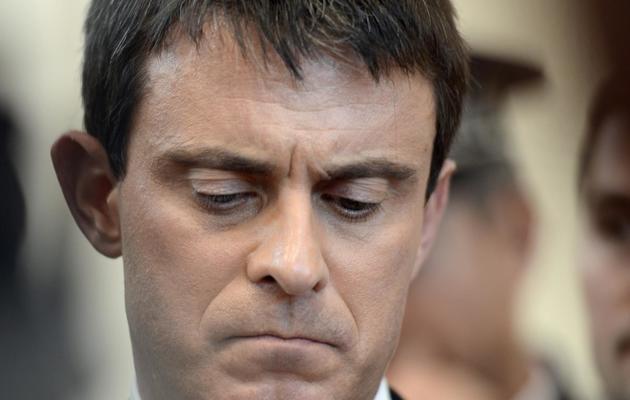 Le ministre de l'Intérieur Manuel Valls, le 17 mai 2013 à Annemasse [Philippe Desmazes / AFP]