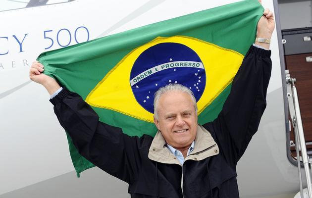 Ernest Edwards, président de la branche aviation d'affaires du brésilien Embraer, le 18 mai 2013 à l'aéroport de Genève [Alain Grosclaude / AFP]