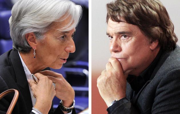 Montage de portraits d'archives de Christine Lagarde le 20 juin 2011 et de Bernard Tapie le 15 février 2008 [Georges Gobet / AFP/Archives]