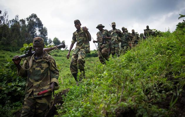 Des combattants de la rébellion du M23, dans l'est de la République démocratique du Congo, le 30 novembre 2012 [Phil Moore / AFP/Archives]