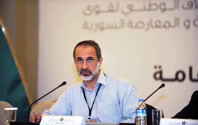 Ahmed Moaz al-Khatib, membre de la Coalition nationale de l'opposition, le 23 mai 2013 à Istanbul [Bulent Kilic / AFP]