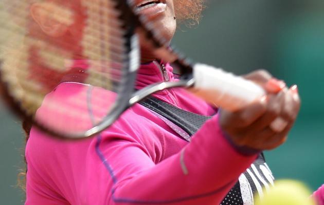 L'Américaine Serena Williams avant le tournoi de Roland Garros le 24 mai 2013 à Paris [Miguel Medina / AFP]