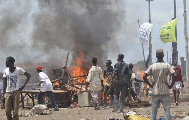 Des opposants dans les rues de Conakry, le 25 mai 2013 [Cellou Binani / AFP]