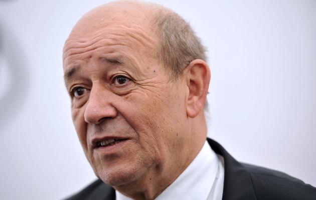 Le ministre français de la Défense, Jean-Yves Le Drian, en conférence de presse le 25 mai 2013 à Salon-de-Provence [Gerard Julien / AFP]