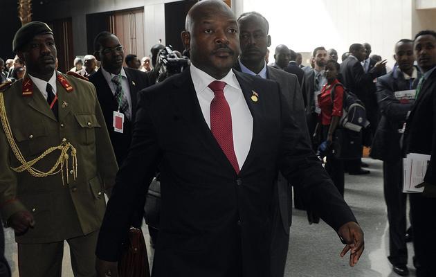 Le président du Burundi Pierre Nkurunziza le 26 mai 2013 à Addis Abeba [Simon Maina / AFP]