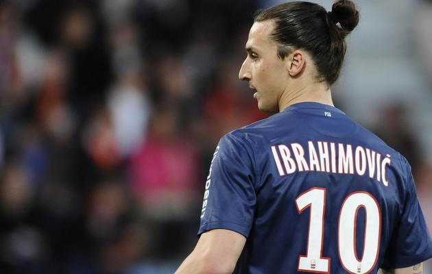 L'attaquant suédois du PSG Zlatan Ibrahimovic lors du match de L1 à Lorient, le 26 mai 2013 [Jean-Sebastien Evrard / AFP]