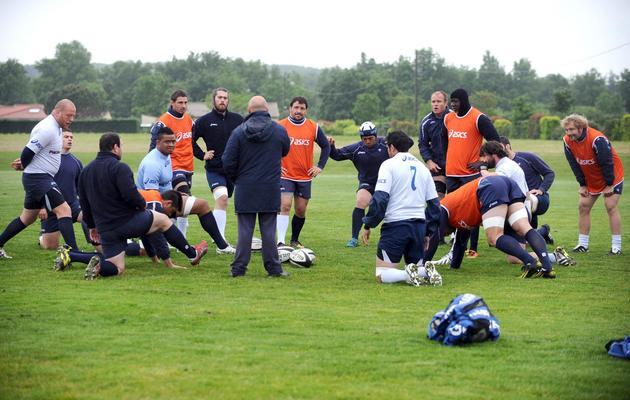 Les joueurs de Castres à l'entraînement, le 28 mai 2013 à Castres [Remy Gabalda / AFP]