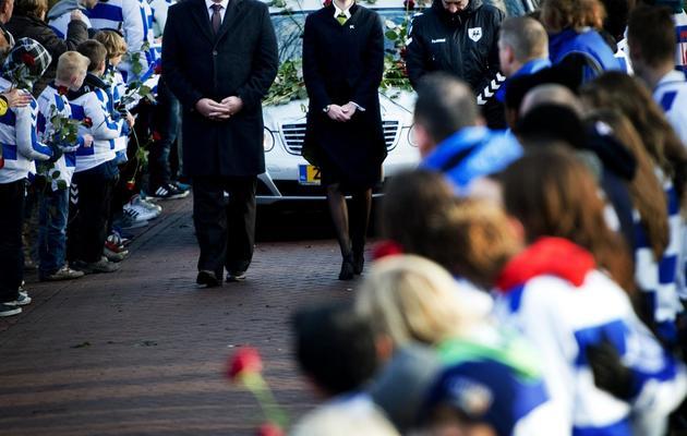 Les funérailles le 10 décembre 2012 de Richard Nieuwenhuizen, un arbitre assistant, battu à mort après une rencontre de football amateur [Robin Utrecht / AFP/Archives]