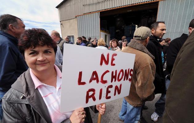 Des employés de Spanghero arrivent sur le site de Castelnaudary (Aude), le 28 mai 2013 [Eric Cabanis / AFP]