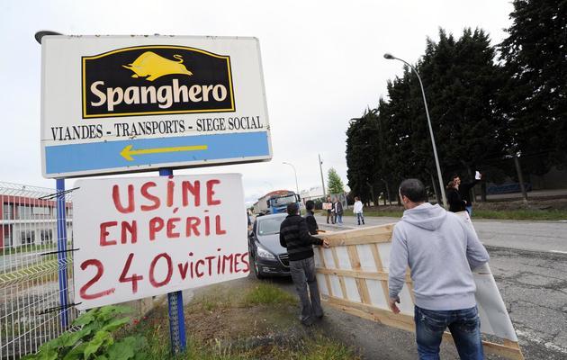 L'entrée de l'usine Spanghero de Castelnaudary, le 28 mai 2013 [Eric Cabanis / AFP/Archives]