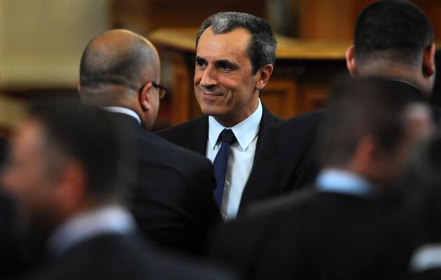 Plamen Orecharski , le 29 mai 2013, au moment de son investiture à Sofia [Nikolay Doychinov / AFP]