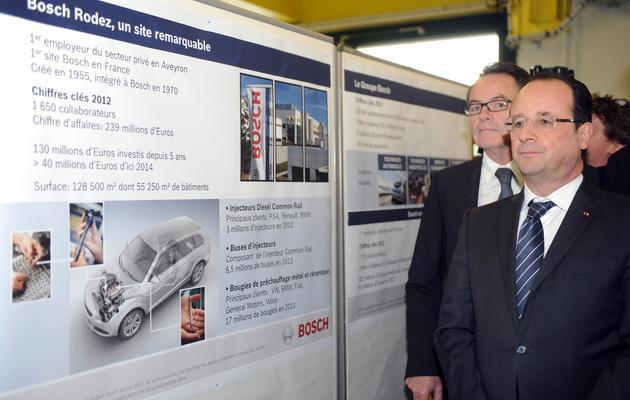 François Hollande le 29 mai 2013 à l'usine Bosch à Rodez [Eric Cabanis / AFP]