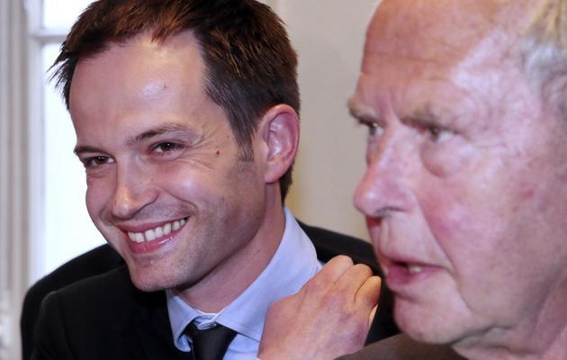 Pierre-Yves Bournazel (g) et Antoine Rufenacht, le 29 mai 2013 à Paris [Jacques Demarthon / AFP]
