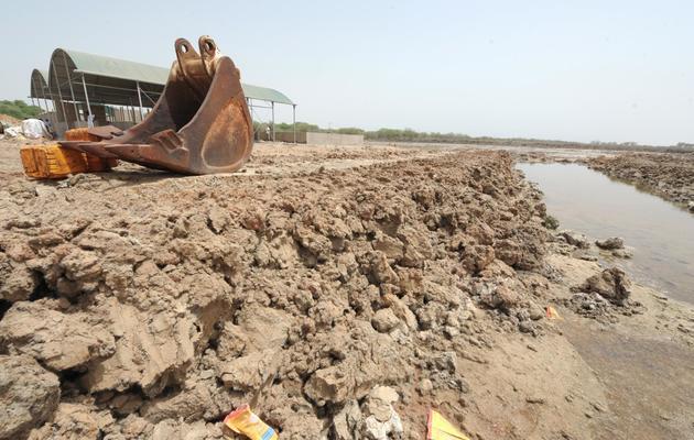Aménagement d'un site de pisciculture, à Maraye au Sénégal, le 24 mai 2013 [Seyllou / AFP/Archives]