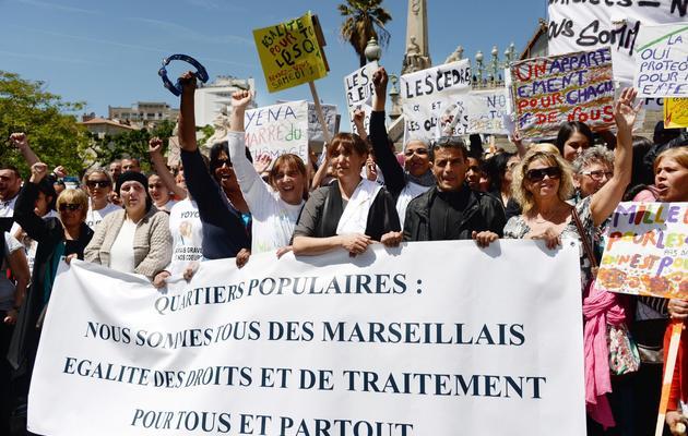 Des Marseillais manifestent contre la violence le 1er juin 2013 [Anne-Christine Poujoulat / AFP]