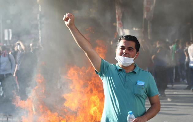 Un manifestant descendu dans la rue à Ankara, le 1er juin 2013 [Adem Altan / AFP]