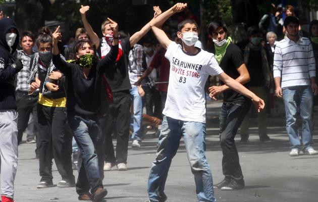 Affrontements entre manifestants et policiers à Ankara, le 3 juin 2013 [Adem Altan / AFP]