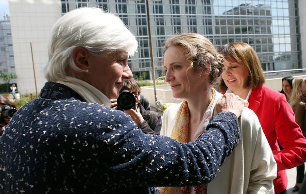 La candidate de l'UMP à la mairie de Paris Nathalie Kosciusko-Morizet en visite dans le quartier des Batignolles à Paris, le 4 juin 2013 [Thomas Samson / AFP]