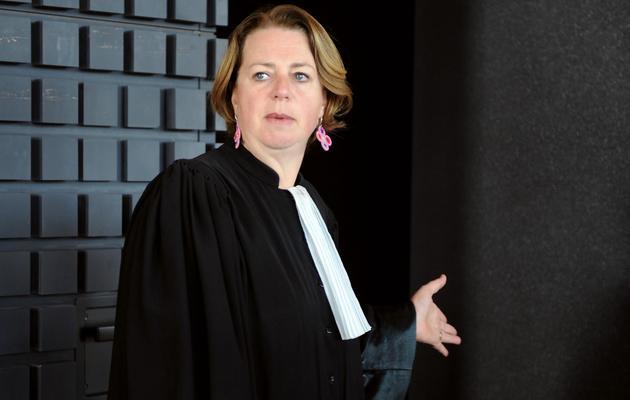 Cécile de Oliveira, l'avocate de la soeur de Laëtitia Perrais, arrive au palais de justice de Nantes, le 5 juin 2013 [Jean-Francois Monier / AFP]