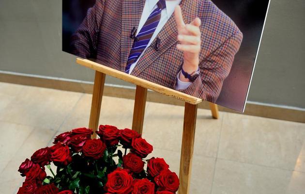 Un portrait de Pierre Mauroy dans la mairie de Lille le 7 juin 2013 [Philippe Huguen / AFP]