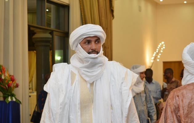 Alghabass Ag Intalla, leader de la délégation Ansar Dine, le 7 juin 2013 à Ouagadougou [Ahmed Ouoba / AFP]