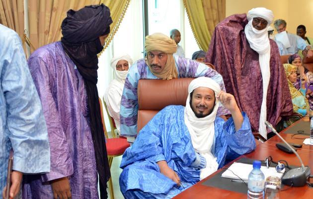 Des chefs touaregs le  8 juin 2013 à Ouagadougou [Ahmed Ouoba / AFP]