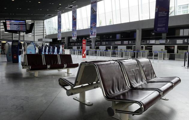 La salle d'embarquement vide le 11 juin 2013 à Montpellier [Pascal Guyot / AFP]