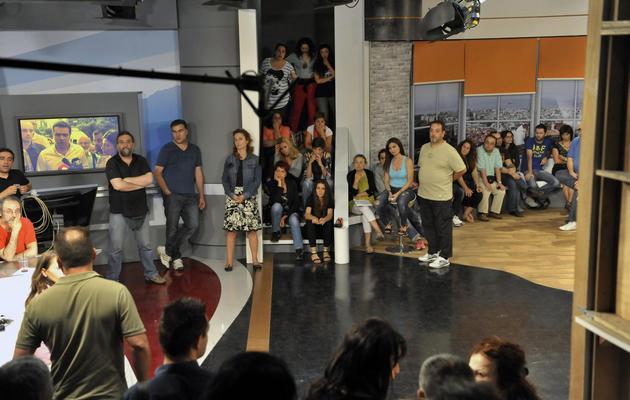 Assemblée générale des salariés de de la télévision publique ERT le 11 juin 2013 à Athnènes [Sakis Mitrolidis / AFP]