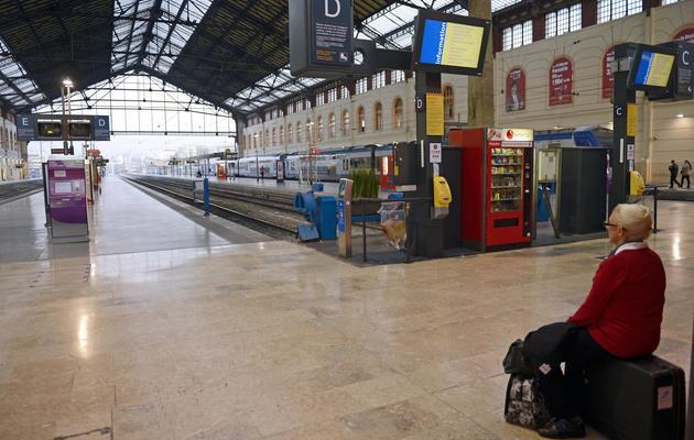 La gare Saint-Charles à Marseille, le 24 octobre 2012, un jour de grève [Anne-Christine Poujoulat / AFP/Archives]