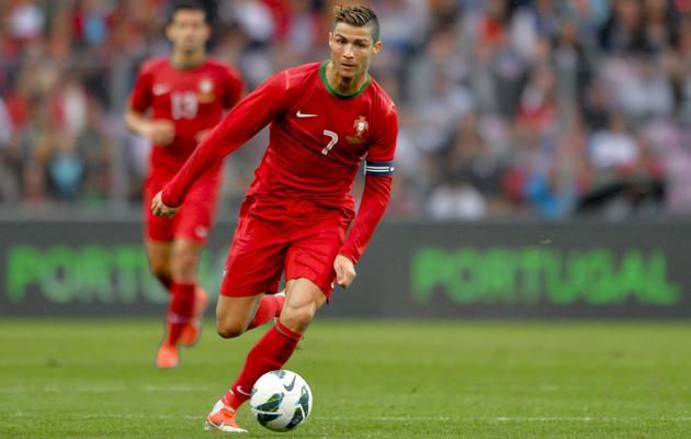 L'attaquant portugais Cristiano Ronaldo avec sa sélection lors du match amical contre la Croatie, le 10 juin 2013, à Genève [Fabrice Coffrini / AFP]