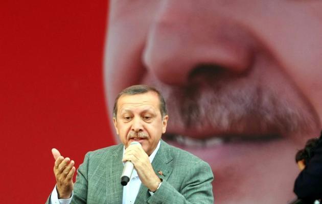Le Premier ministre Recep Tayyip Erdogan le 15 juin 2013 à Sincan [Adem Altan / AFP]