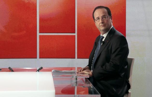 François Hollande sur le plateau de Capital, une émission de M6, le 16 juin 2013 à Neuilly-sur-Seine [Jacques Demarthon / AFP]