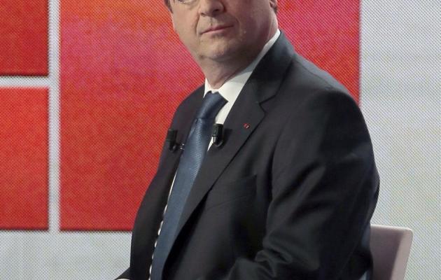 Le président François Hollande sur la plateau de Capital (M6) le 16 juin 2013 à Neuilly-sur-Seine [Jacques Demarthon / AFP]