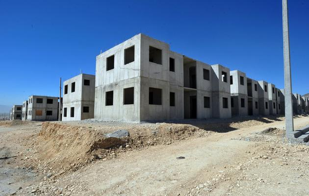 Des immeubles en construction le 8 janvier 2013 au nord de Port-au-Prince [Thony Belizaire / AFP]