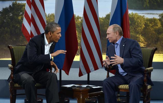 Barack Obama et Vladimir Poutine, le 17 juin 2013 à Enniskillen en Irlande du Nord  [Jewel Samad / AFP]