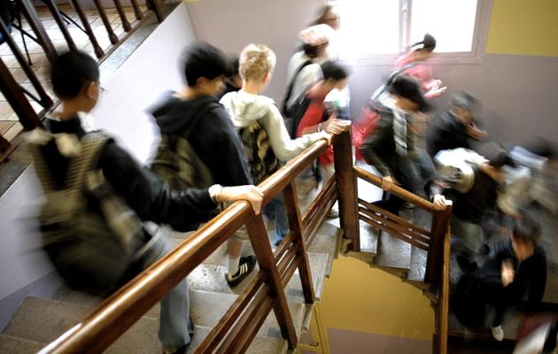 Les élèves d'un collège le jour de la rentrée scolaire [Jeff Pachoud / AFP/Archives]