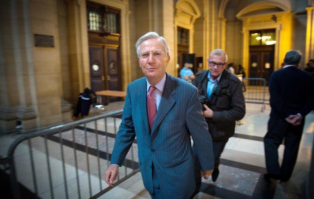 Denis Gautier-Sauvagnac, ancien patron de l'UIMM, arrive au tribunal, le 22 octobre 2013 [Martin Bureau / AFP/Archives]