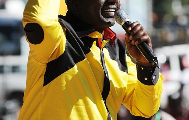 William Ruto, alors ancien ministre et allié de Uhuru Kenyatta dans la course présidentielle, lors d'un rassemblement politique à Nairobi, le 12 janvier 2013 [Simon Maina / AFP/Archives]