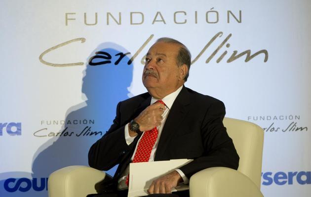 Le millardaire mexicain Carlos Slim, à Mexico le 29 janvier 2014 [Yuri Cortez / AFP/Archives]