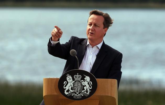 Le Premier ministre britannique David Cameron au sommet du G8 en Irlande du Nord, le 18 juin 2013 [Matt Cardy / POOL/AFP]