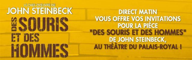 """Gagnez des places pour la pièce """"Des souris et des hommes"""""""