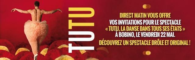 Gagnez vos invitations pour le spectacle de danse Tutu