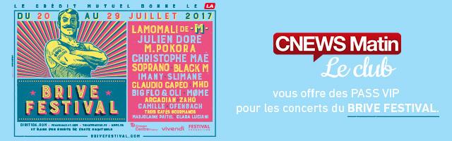 Gagnez vos pass VIP pour les concerts du Brive Festival