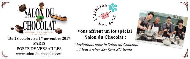 Gagnez votre pack Salon du chocolat Atelier des sens !